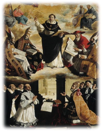 Francisco Zurbaran  The Apotheosis of St.Thomas Aquinas 1631